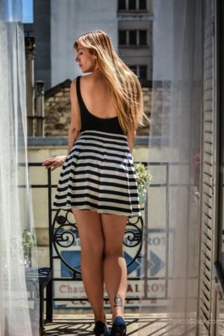 Parisian girl on the balcony